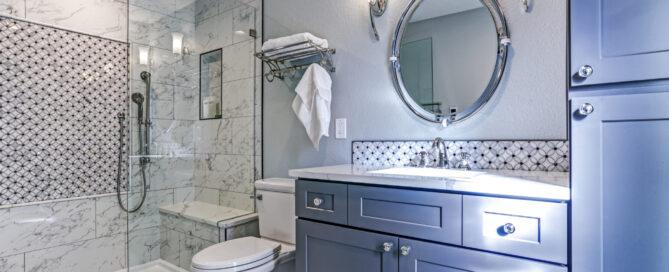 Blue Bathroom Design Montes Marble & Granite Atkinson, NH