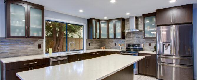 Contemporary Kitchen Countertops Montes Marble & Granite Atkinson, NH